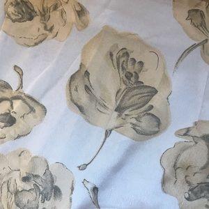 Vintage floral maxi skirt with slit